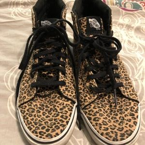 Vans leopard print shoes